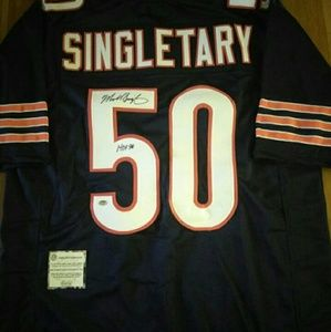 Mike Singeltary Chicago bears Autograph Jersey